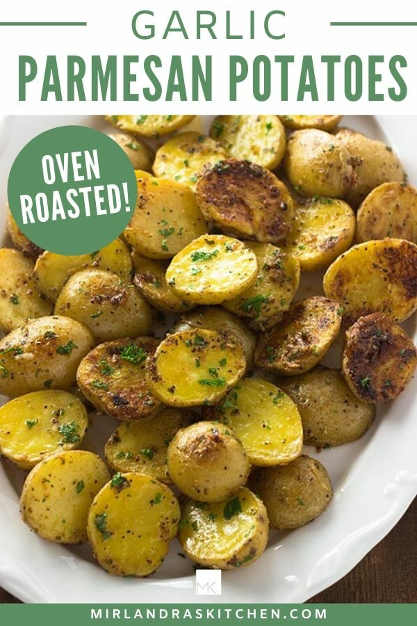 oven roasted garlic Parmesan potatoes promo image
