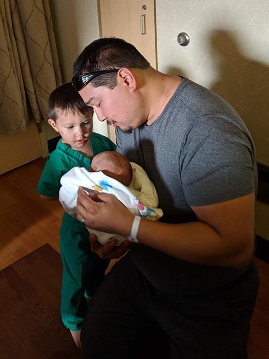 Jack meets baby ella in the hospital.