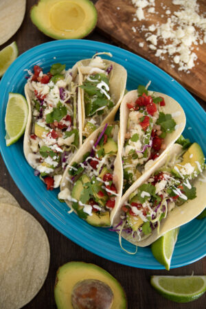 Fresh, delicious Baja style fish tacos. These are made with cod and are a quick and healthy family dinner.