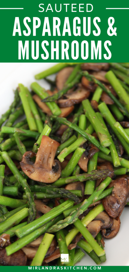 sauteed asparagus and mushrooms promo image