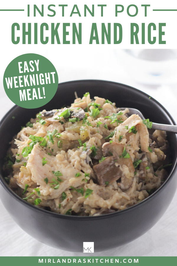 instant pot chicken and rice promo image