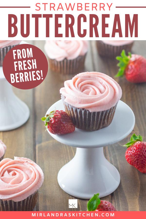 fresh strawberry buttercream promo image