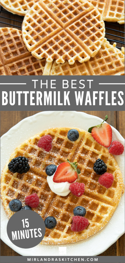 easy buttermilk waffles promo image