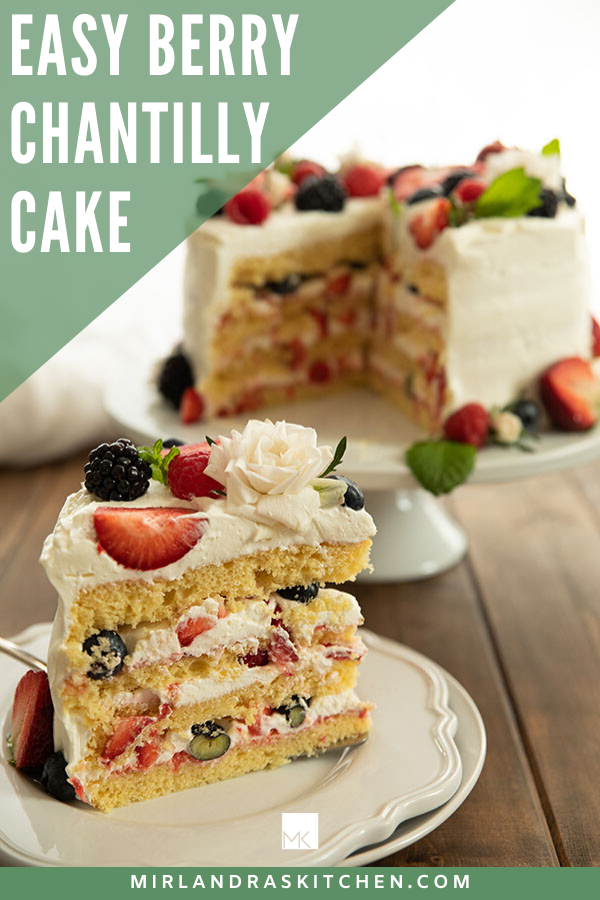 easy berry Chantilly Cake promo image