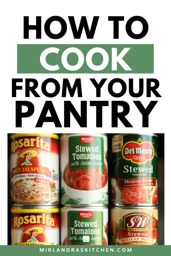 How to cook from your pantry promo image.