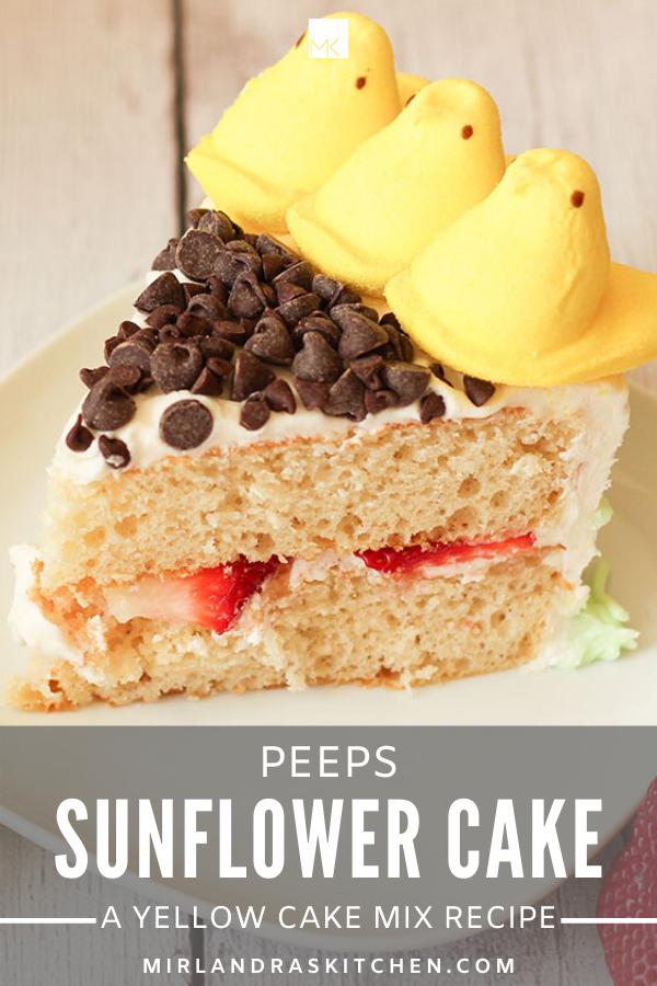 peeps sunflower cake promo image