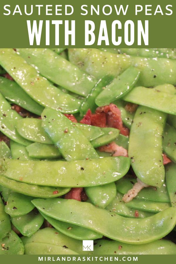 snow peas with bacon promo image