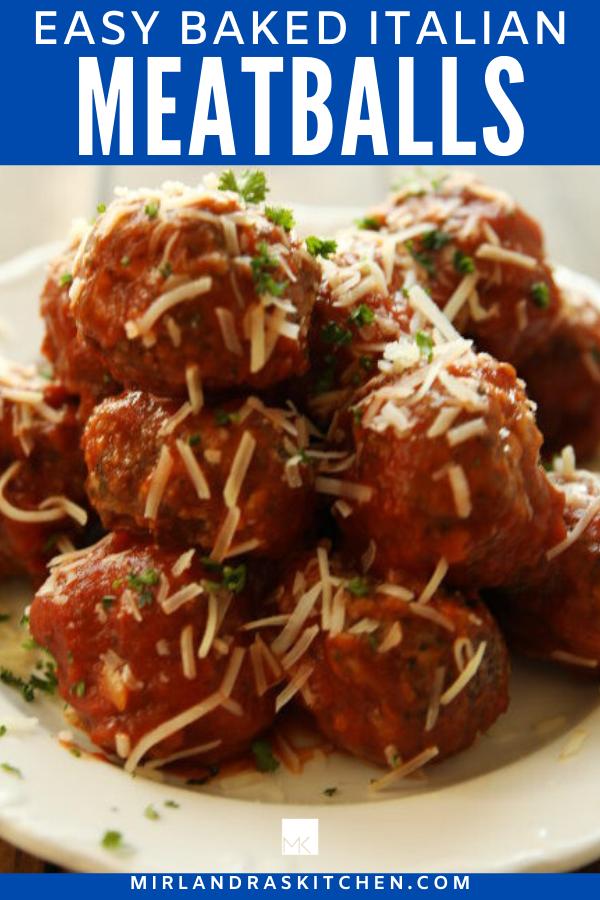 easy homemade Italian meatballs promo image