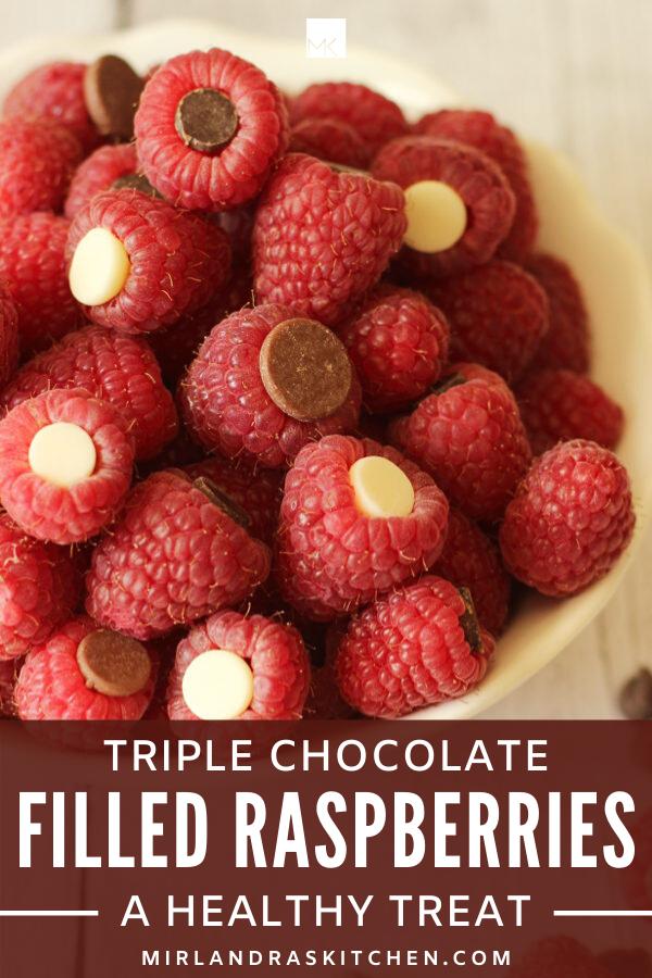 triple chocolate filled raspberries promo image