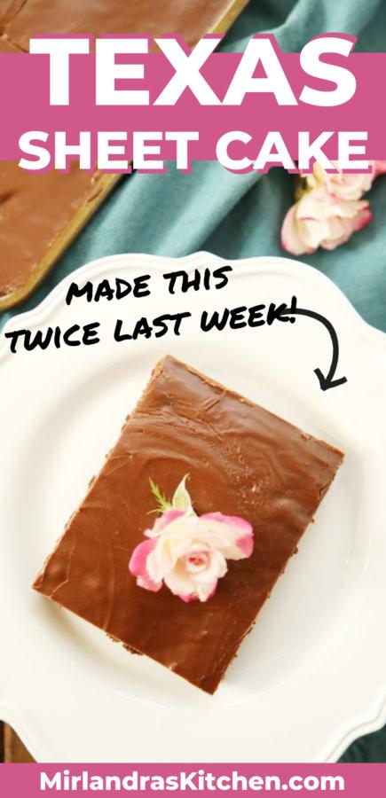 Texas Sheet Cake Promo Image