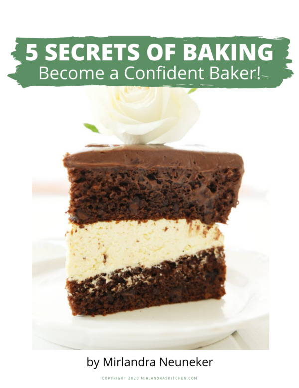 Image of digital product cover for 5 Secrets of Baking.