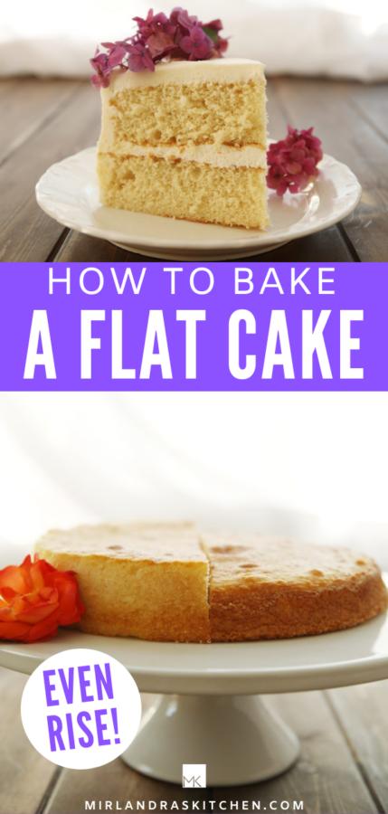 how to bake a flat cake promo image